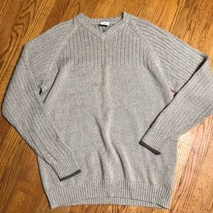 Columbia large gray sweater cotton AA25